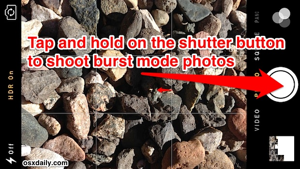 Quickly take multiple photos with burst mode on iPhone