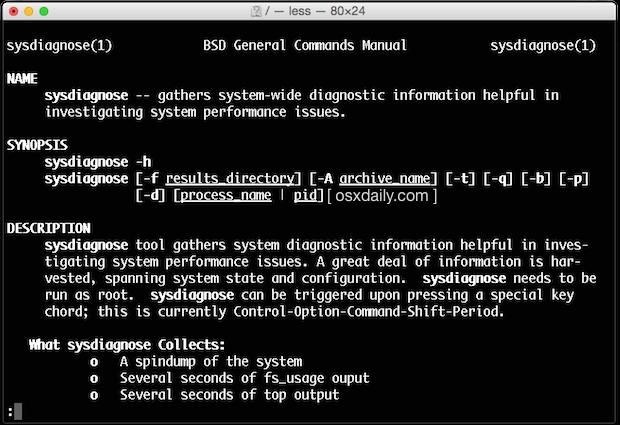 sys diagnostics advanced Mac diagnostics in OS X