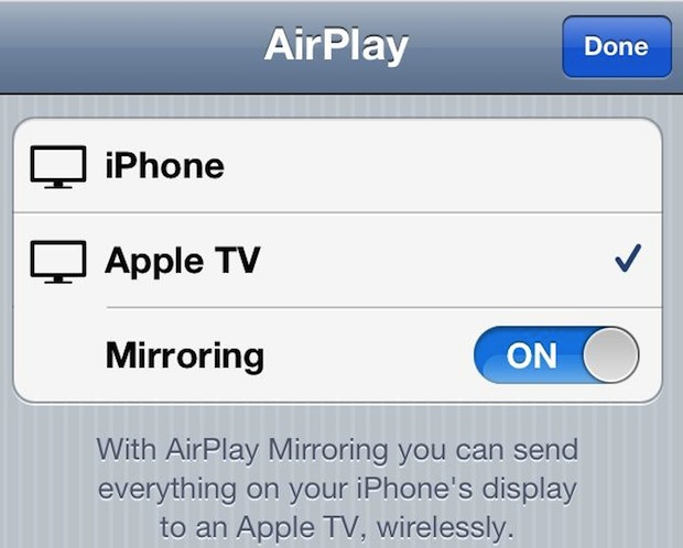 Broadcast the iPhone Camera Live to Apple TV