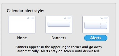 Banners vs. Alerts in Mac OS X Notification Center