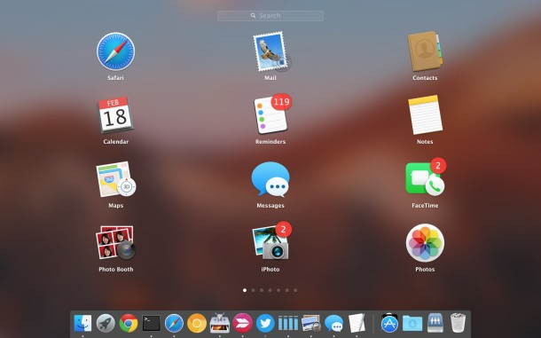 Change the number of Launchpad grid icons in Mac OS X
