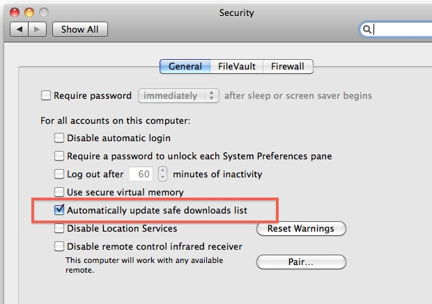 enable and disable automatic downloads of malware definitions