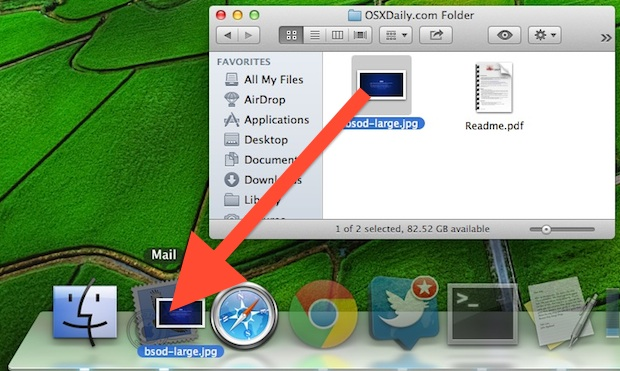 Drag a file into Mail to directly attach it