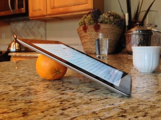 Orange iPad stand, seriously it works