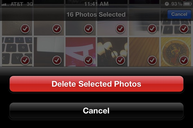 Delete a group of photos directly on iPhone