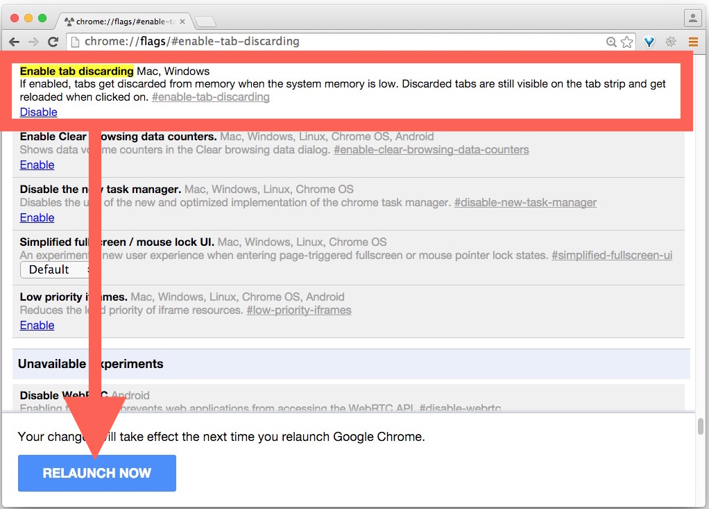 Enable tab removal in Chrome