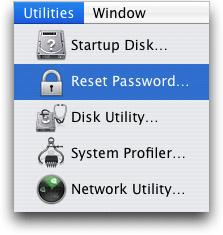 reset forgot mac password
