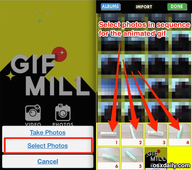 Create an animated GIF on iPhone