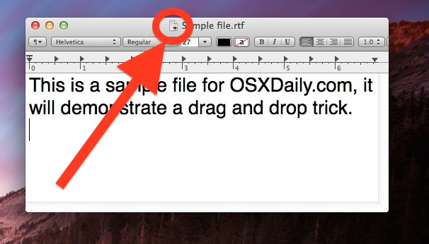 The proxy icon in Mac OS X