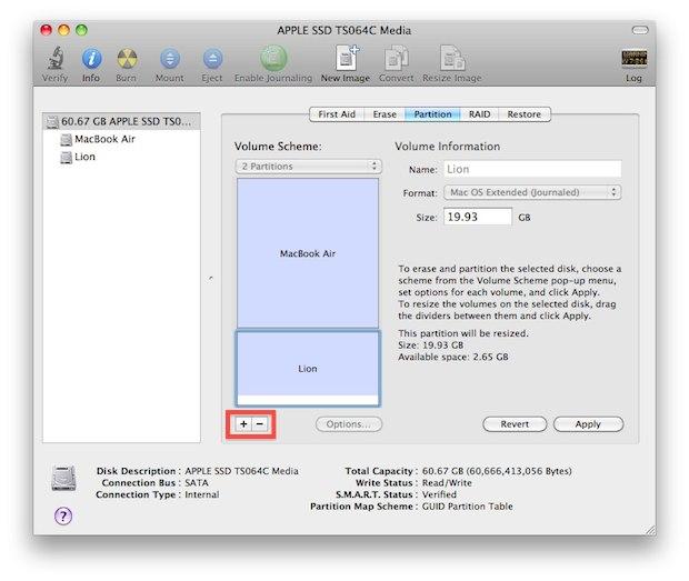 Partition a Mac hard drive