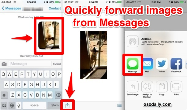 Create a new message from an existing picture in the Messages app
