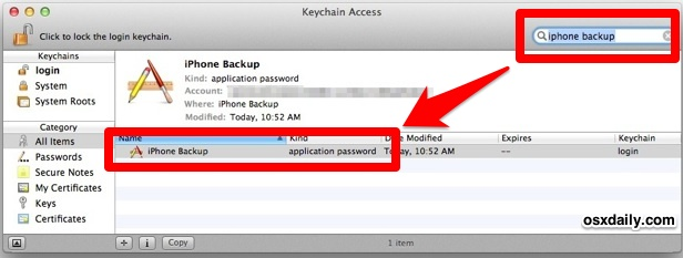 Recover lost iPhone encrypted backup password