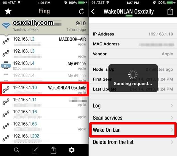 Using Wake On LAN in iOS