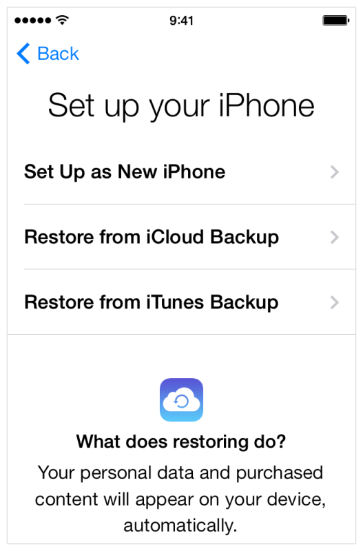 Recover the iPhone