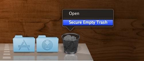 Safe Empty Trash on a Mac