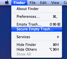 Safe Empty the trash in Mac OS X