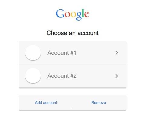 Switch between Google accounts