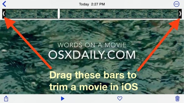 How to    trim video clips and movies in iOS