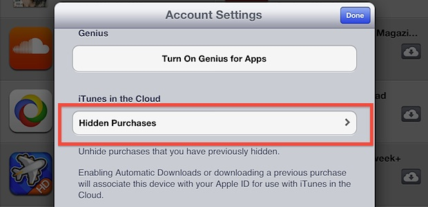 Make purchases visible in the App Store