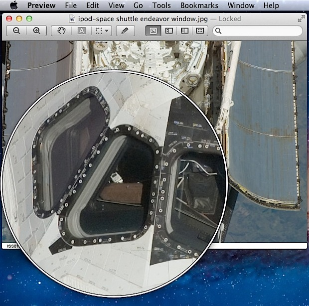 Magnifying glass in Preview