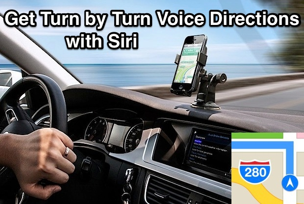 Turn-by-turn voice prompts with Siri on iPhone