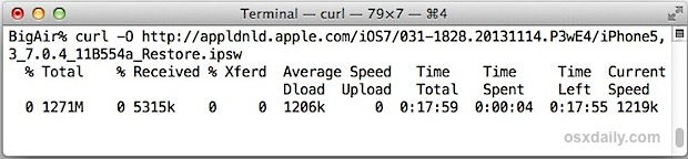 Download a file with curl