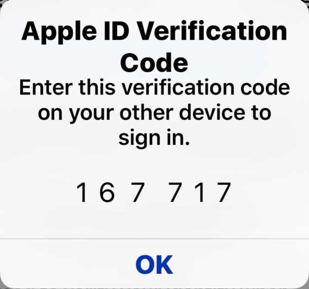 Two-factor authentication ID code