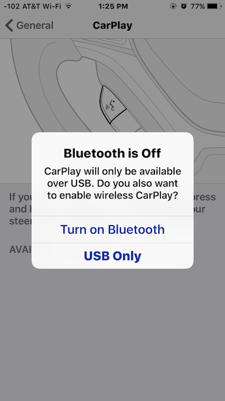 Institution up CarPlay