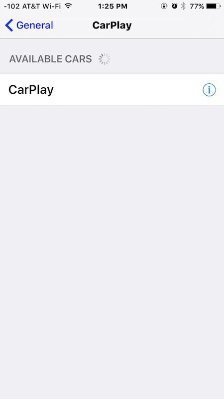 CarPlay available cars
