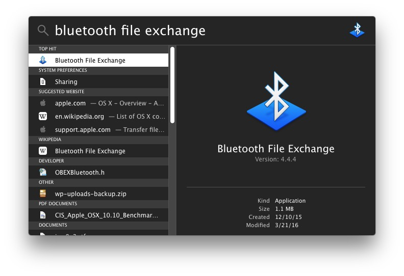 Search for Bluetooth app to enable the service