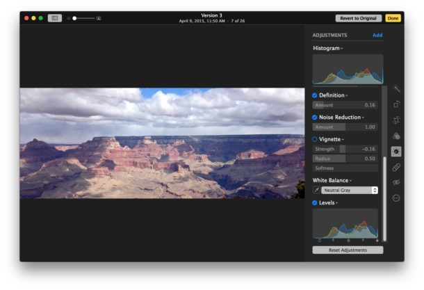 Advanced options for editing images in Photos for Mac