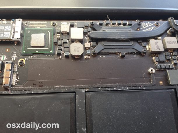 Remove the standard SSD from MacBook Air to replace it