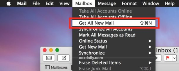 Get all new email on Mac Mail