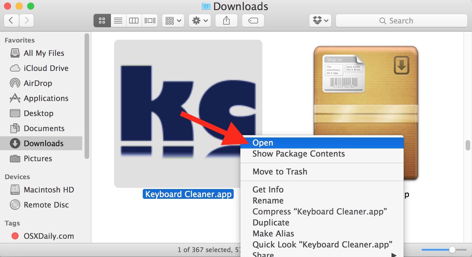 Open Keyboard Cleaner