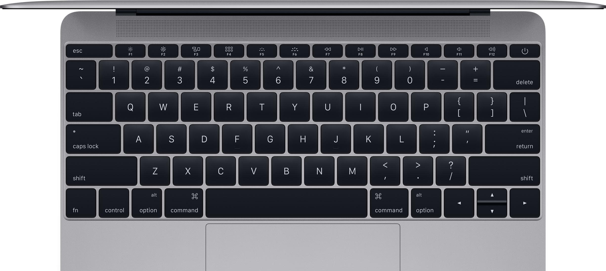 A clean MacBook keyboard