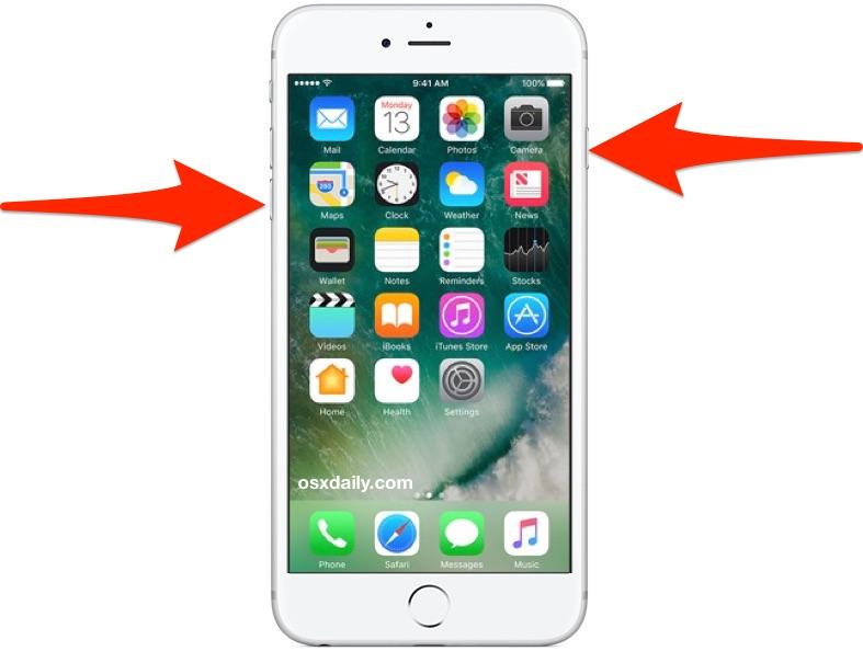Restart iPhone 7