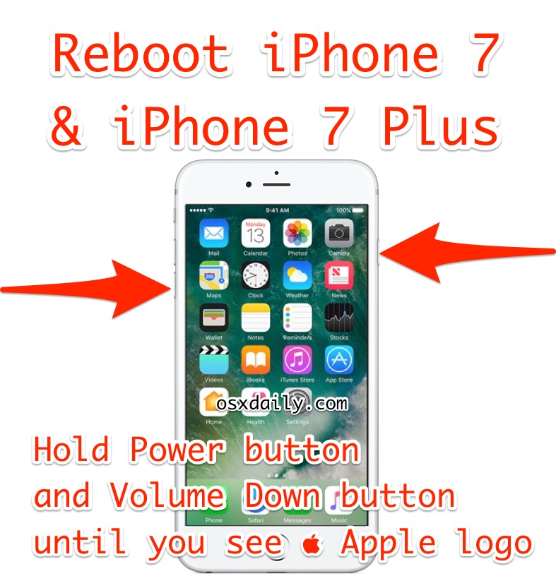 How to    reboot the iPhone 7 Plus