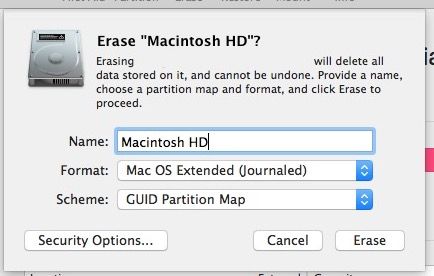Format the Mac drive you want to clean macOS Sierra to