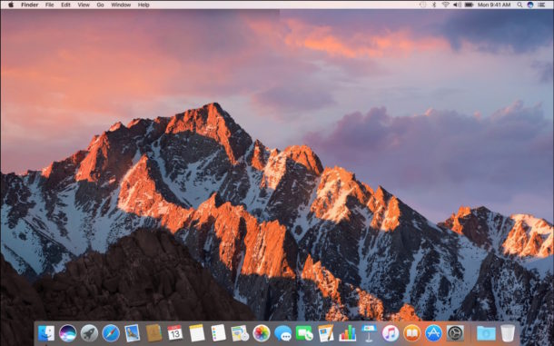A clean install of macOS Sierra doesn't include anything