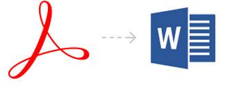 Adobe PDF conversion to DOC DOCX tool