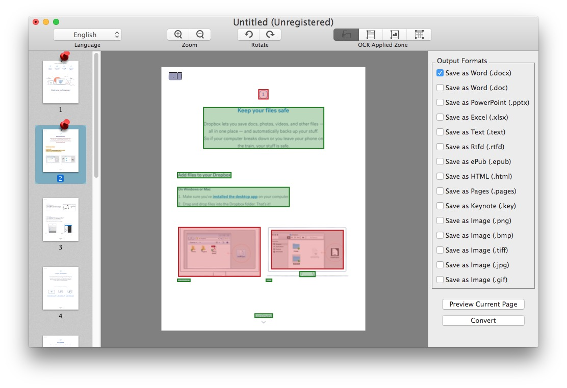 PDF conversion tool for Mac works quite well