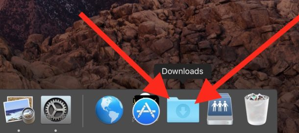 AirDrop files go to Downloads folder on Mac