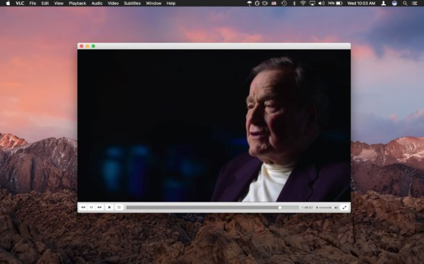 VLC is the best video player for Mac or universal use