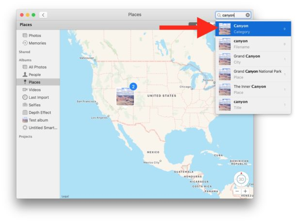 Search Photos on Mac for keywords and characteristics
