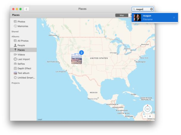 Look for identifying features in Mac photos