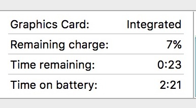 Example of MacBook Pro battery life in real use