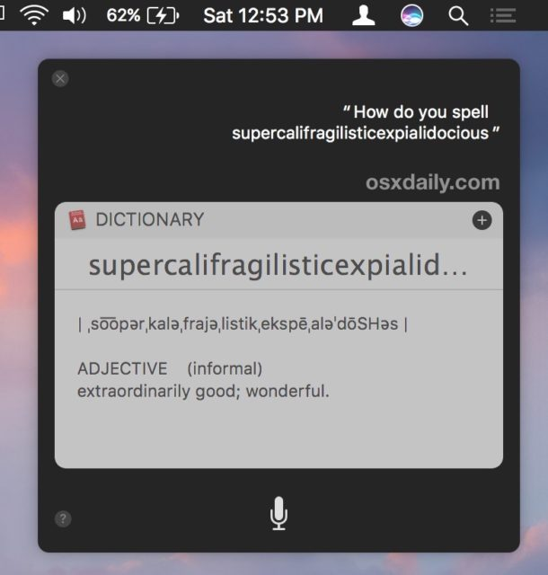 Let Siri spell it words for you
