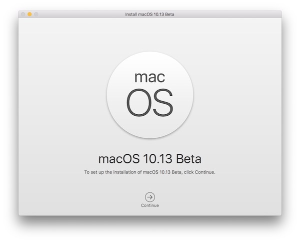 Install macOS High Sierra beta