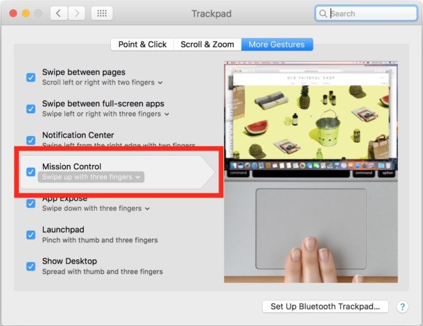 Activate Mission Control with Trackpad on Mac