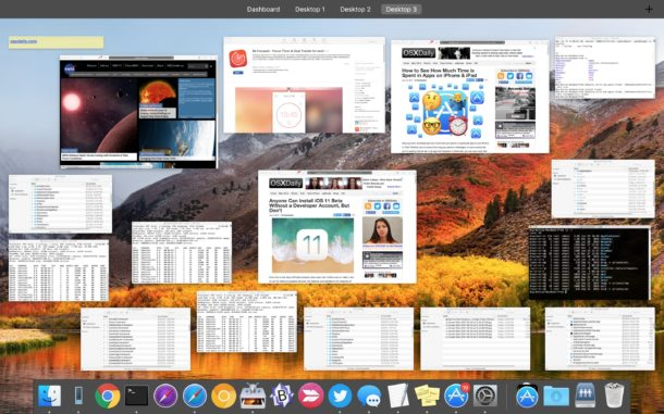 View all open windows on a Mac with Mission Control